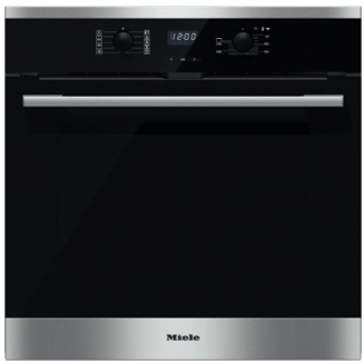 MIELE H2566BP ContourLine | CleanSteel Single Built In Electric Oven